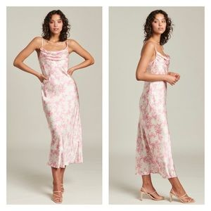 Ginia Isabel Maxi Dress 100% silk size small NWT!